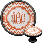Chevron Cabinet Knob (Black) (Personalized)