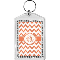 Chevron Bling Keychain (Personalized)