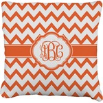 Chevron Faux-Linen Throw Pillow (Personalized)