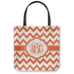 "Chevron Canvas Tote Bag - Small - 13""x13"" (Personalized)"