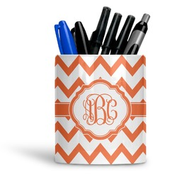 Chevron Ceramic Pen Holder