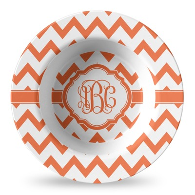 Chevron Plastic Bowl - Microwave Safe - Composite Polymer (Personalized)