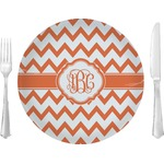 """Chevron Glass Lunch / Dinner Plates 10"""" - Single or Set (Personalized)"""