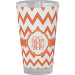 Chevron Drinking / Pint Glass (Personalized)