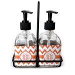 Chevron Soap & Lotion Dispenser Set (Glass) (Personalized)