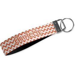 Chevron Wristlet Webbing Keychain Fob (Personalized)