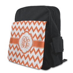 Chevron Kid's Backpack with Customizable Flap (Personalized)