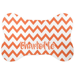 Chevron Bone Shaped Dog Food Mat (Personalized)