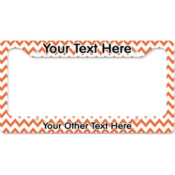 Chevron License Plate Frame (Personalized)