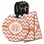 Chevron Plastic Luggage Tags (Personalized)