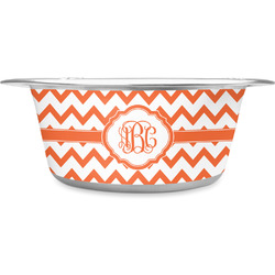 Chevron Stainless Steel Pet Bowl (Personalized)