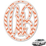 Chevron Monogram Car Decal (Personalized)