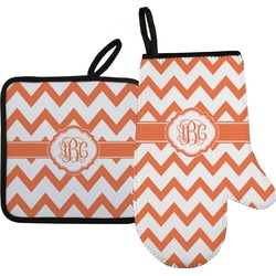 Chevron Oven Mitt & Pot Holder (Personalized)