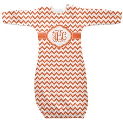 Chevron Newborn Gown (Personalized)