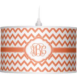 Chevron Drum Pendant Lamp (Personalized)