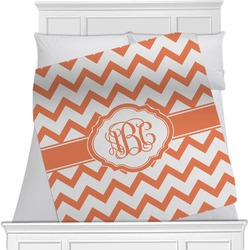 "Chevron Fleece Blanket - Twin / Full - 80""x60"" - Double Sided (Personalized)"