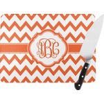 Chevron Rectangular Glass Cutting Board (Personalized)