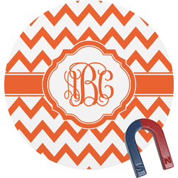 Chevron Round Magnet (Personalized)