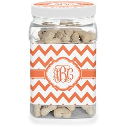 Chevron Pet Treat Jar (Personalized)