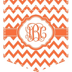 Chevron Iron On Faux Pocket (Personalized)