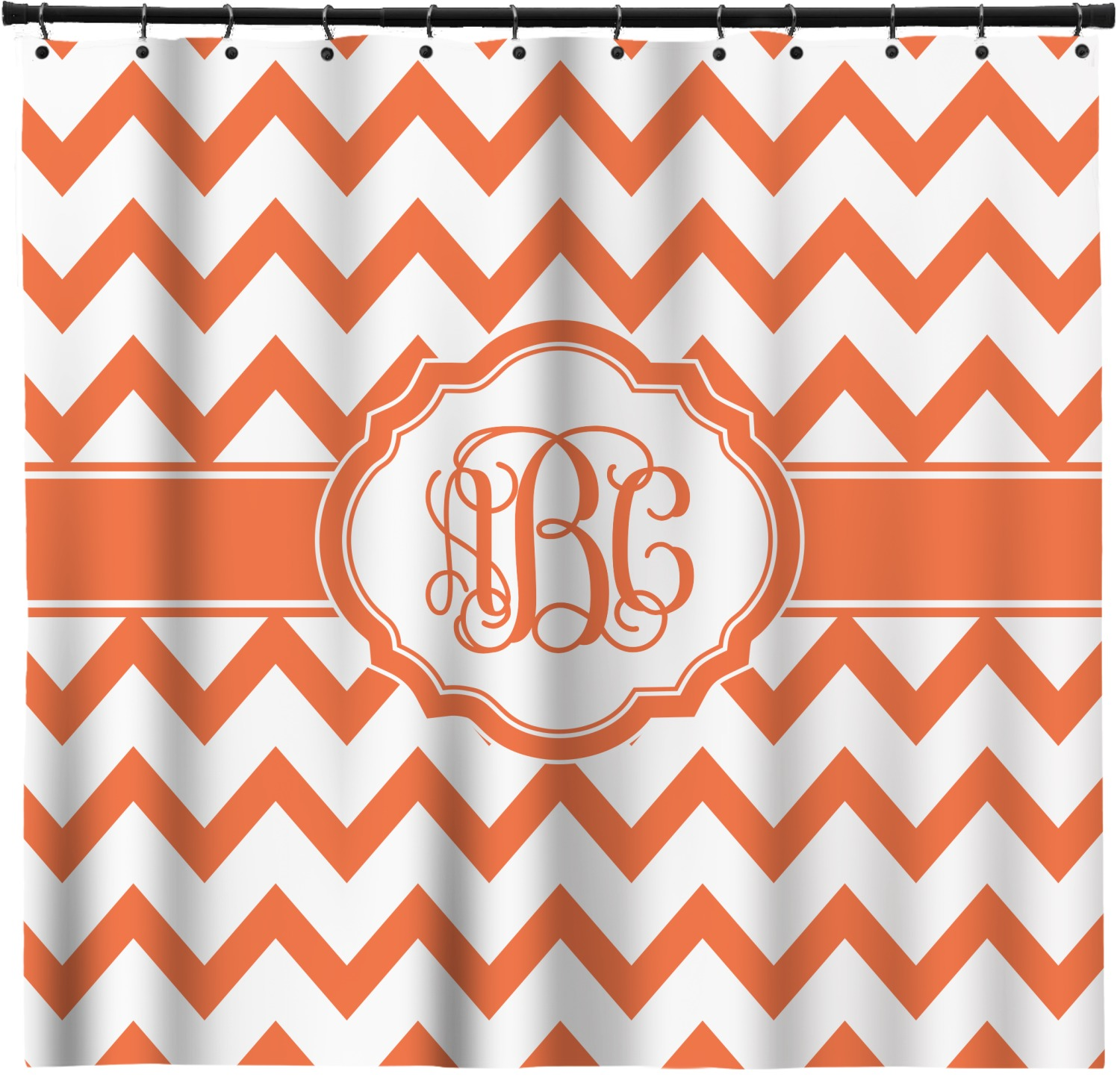 Chevron Shower Curtain  Personalized YouCustomizeIt