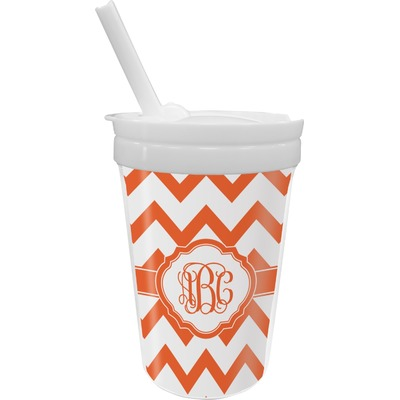 Chevron Sippy Cup with Straw (Personalized)