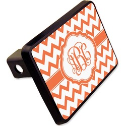 "Chevron Rectangular Trailer Hitch Cover - 2"" (Personalized)"