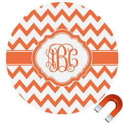 Chevron Round Car Magnet (Personalized)