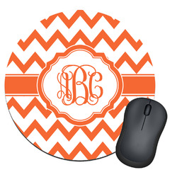 Chevron Round Mouse Pad (Personalized)