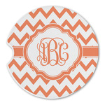 Chevron Sandstone Car Coasters (Personalized)