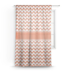 "Chevron Sheer Curtain - 50""x84"" (Personalized)"