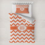 Chevron Toddler Bedding w/ Monogram