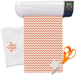 "Chevron Heat Transfer Vinyl Sheet (12""x18"")"