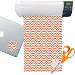 Chevron Sticker Vinyl Sheet (Permanent)