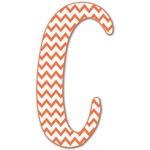 Chevron Letter Decal - Custom Sized (Personalized)