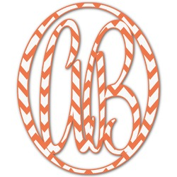 Chevron Monogram Decal - Custom Sized (Personalized)