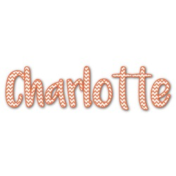 Chevron Name/Text Decal - Custom Sizes (Personalized)