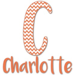 Chevron Name & Initial Decal - Custom Sized (Personalized)