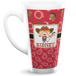 Red Western 16 Oz Latte Mug (Personalized)