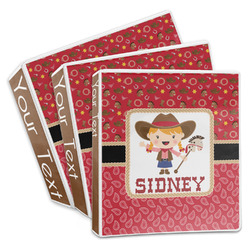 Red Western 3-Ring Binder (Personalized)