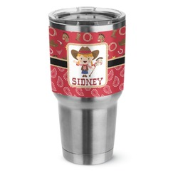 Red Western Stainless Steel Tumbler - 30 oz (Personalized)