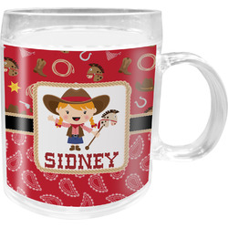 Red Western Acrylic Kids Mug (Personalized)