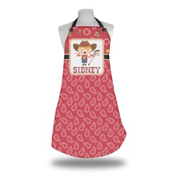 Red Western Apron (Personalized)