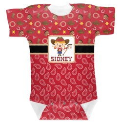 Red Western Baby Bodysuit (Personalized)