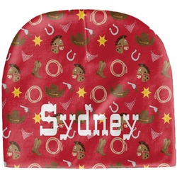Red Western Baby Hat (Beanie) (Personalized)
