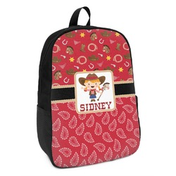 Red Western Kids Backpack (Personalized)