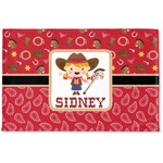 Red Western Woven Mat (Personalized)