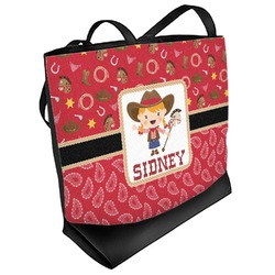 Red Western Beach Tote Bag (Personalized)