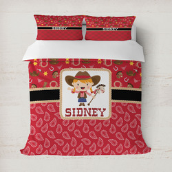 Red Western Duvet Covers (Personalized)