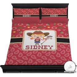 Red Western Duvet Cover Set (Personalized)